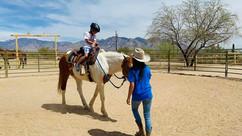 Riding a big ol' horse