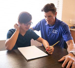 Speech Therapist assisting a client.