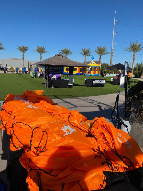 Orange Swag Bags