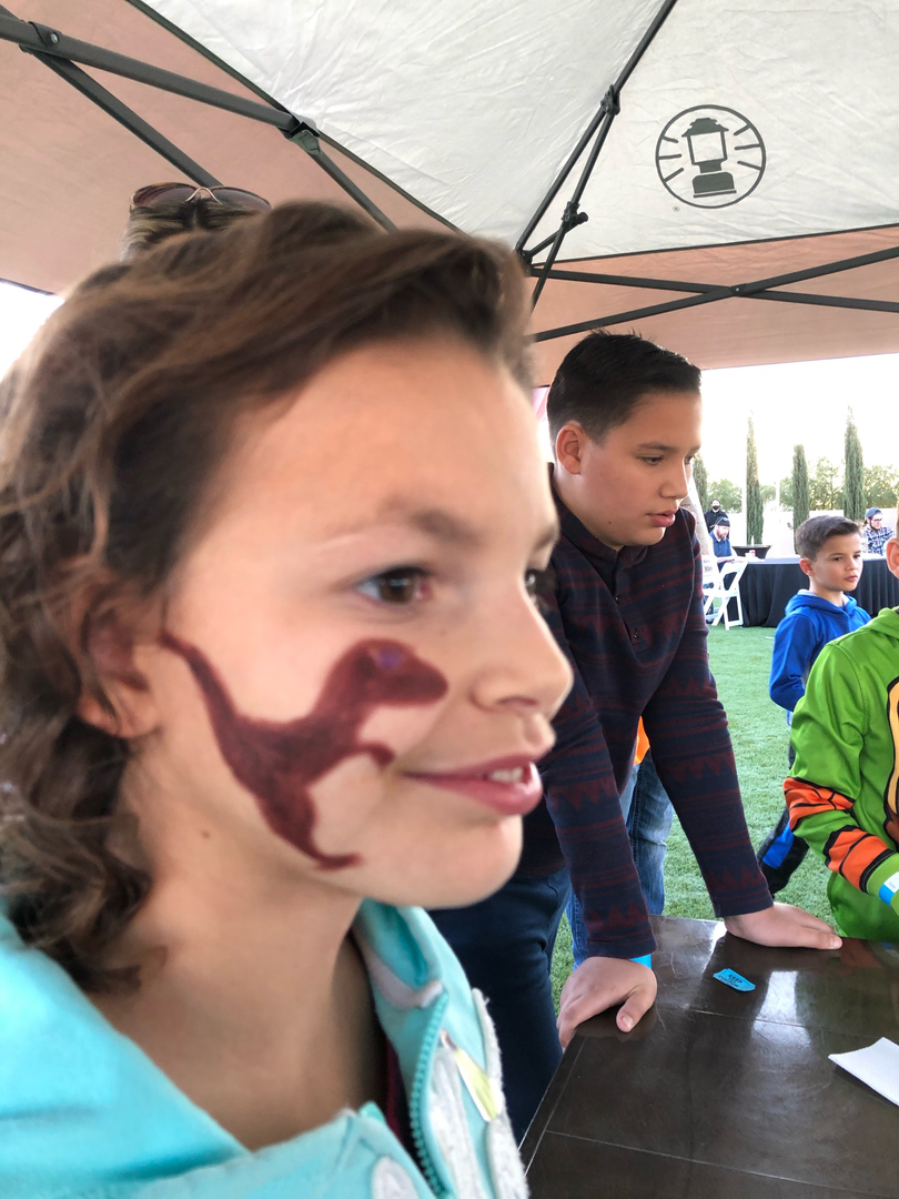 Dinosaur face painting!
