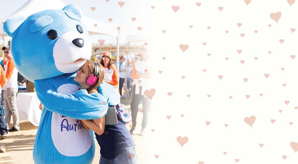 Campaign Image -- Autibear and girl bearhug