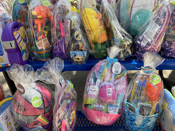 Easter Baskets donated by Templo Fitness