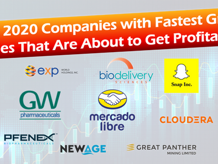 Top 15 Stocks to watch in 2020: Fastest Growing Companies that are about to hit Profitability
