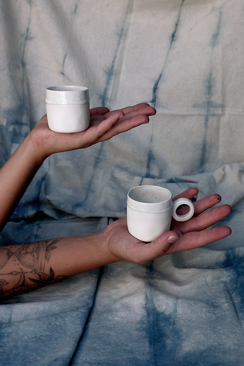 Duo de tasses à expresso - porcelaine