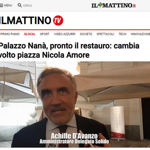 Il Mattino: Palazzo Nanà, pronto il restauro - Intervista Achille D'Avanzo