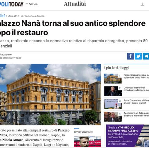 Napoli Today - Palazzo Nanà torna al suo antico splendore dopo il restauro