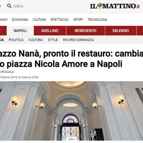 Palazzo Nanà, pronto il restauro: cambia volto piazza Nicola Amore a Napoli