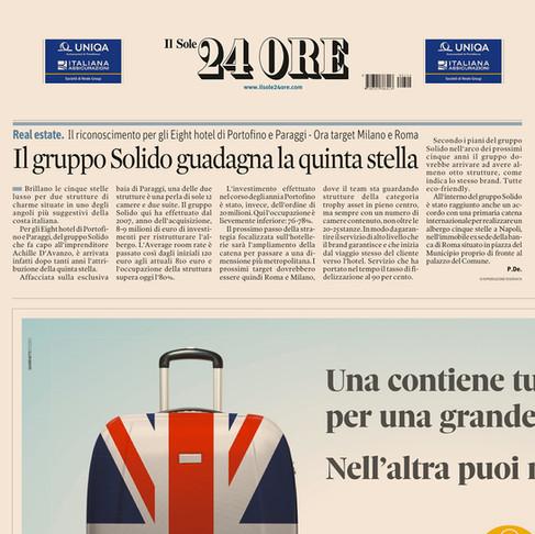 Il Gruppo Solido guadagna la quinta stella - Il riconoscimento per gli Eight Hotels di Portofino e P