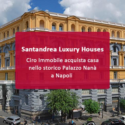 L'attaccante della Lazio Ciro Immobile acquista casa nello storico Palazzo Nanà a Napoli