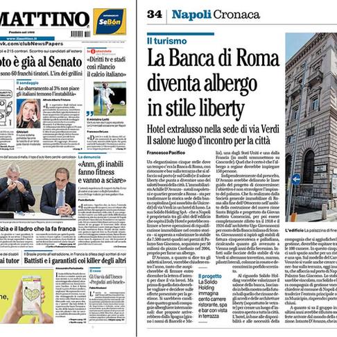 La Banca di Roma diventa albergo in stile liberty