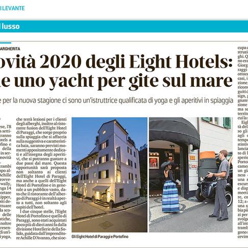 Le novità 2020 degli Eight Hotels: anche uno yacht per gite sul mare
