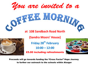 Coffee Morning at 108 Sandbach Road North