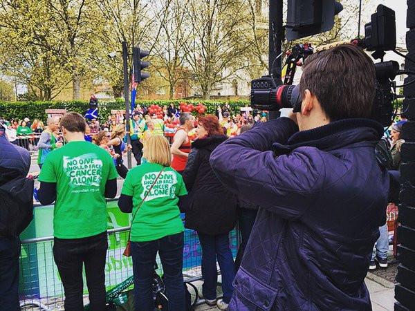 Filming a Macmillan Event