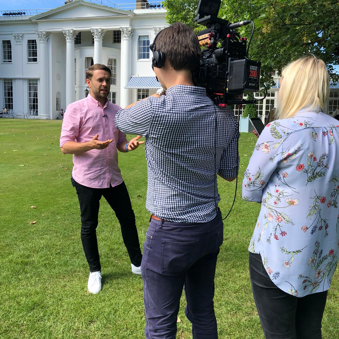 Capturing interviews at an event