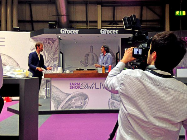 Filming at the Farm Shop and Deli Show