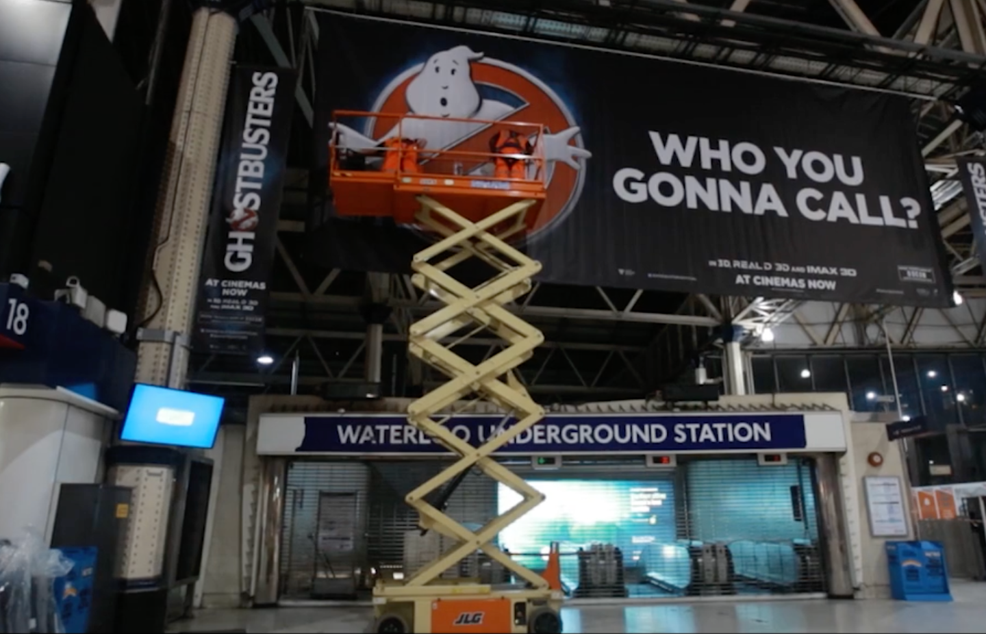 JCDecaux Ghostbusters Experiential Time Lapse Screenshot