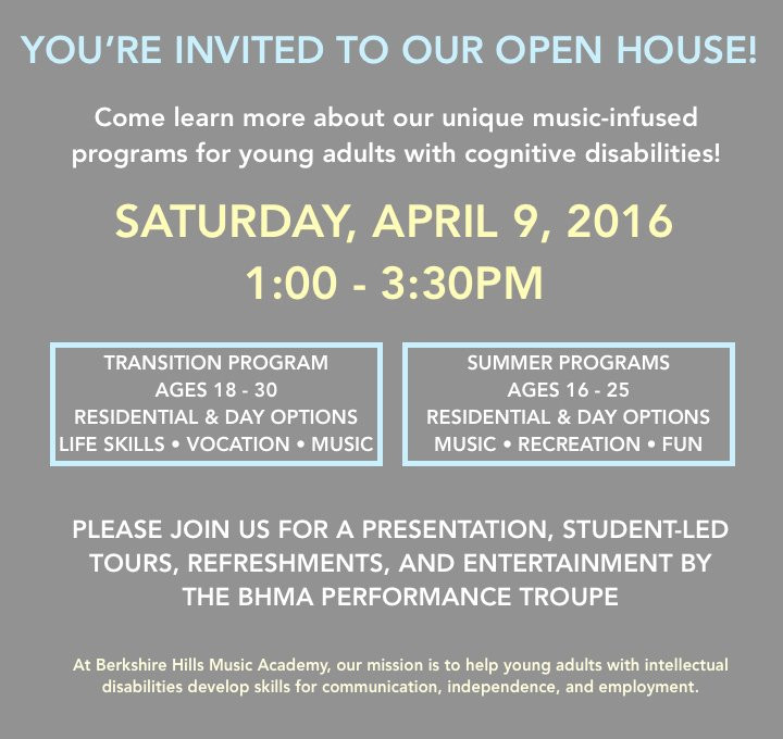Image of Open House invitation.