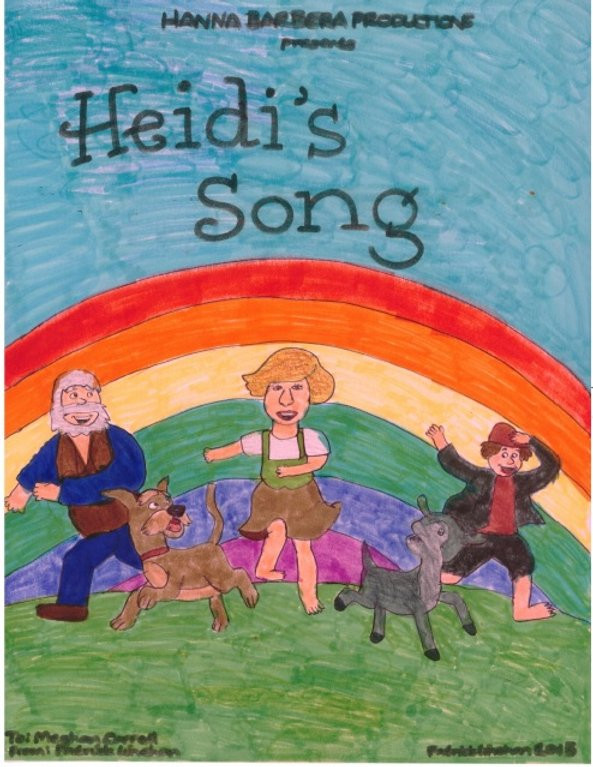 Image of a drawing Pat did of the Heidi's Song cover.