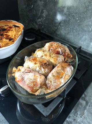Ballotine farce Girolle Châtaigne  &  marinade crème Girolles