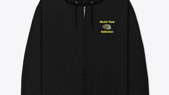 MTA Black Zip up Hoodie