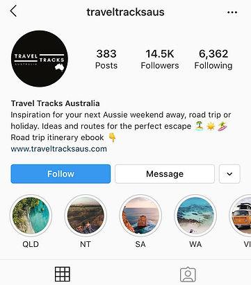 Travel Tracks Australia Instagram by Ban