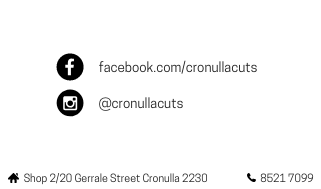 Cronulla Cuts Business Cards by Banni Di