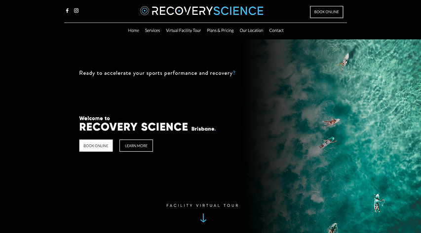 Recovery Science Website by Banni Digita