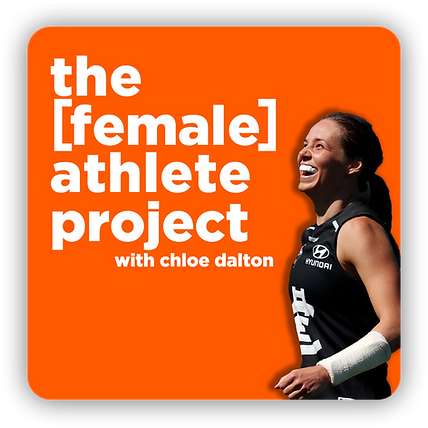 the female athlete project logo with sha