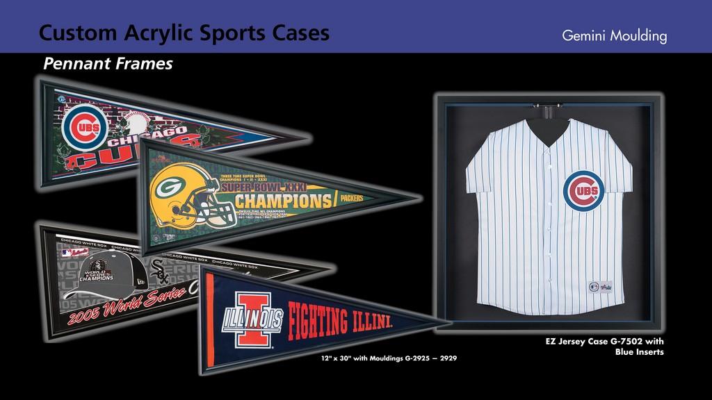 Acrylic penant cses, jersey cases