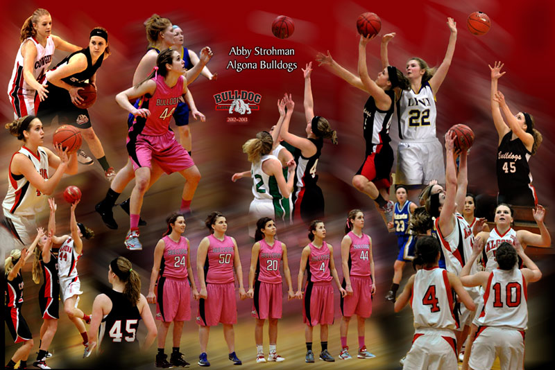 Baketball photo montage