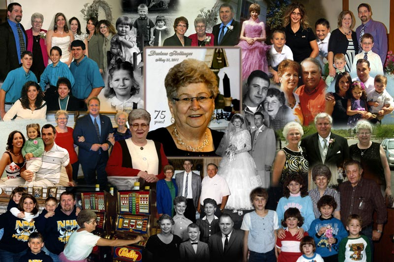 75th Birthday Photo Montage