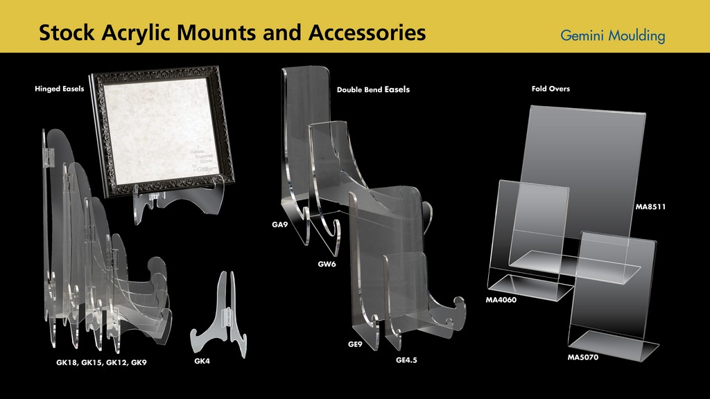 Acrylic mounts and accessories