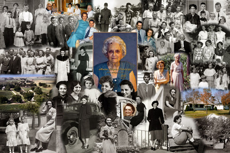 100th Birthday Photo Montage