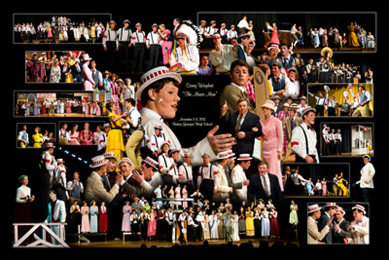 Theater performance photo montage