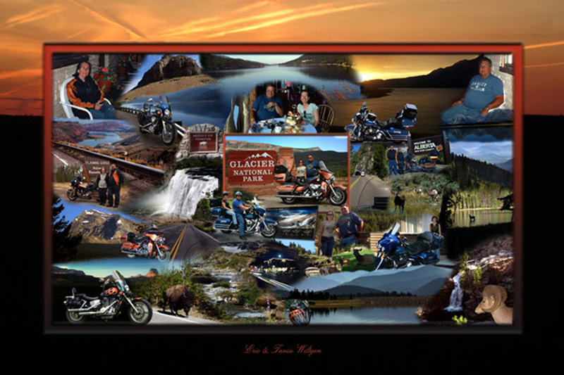 Motorcyle trip photo montage