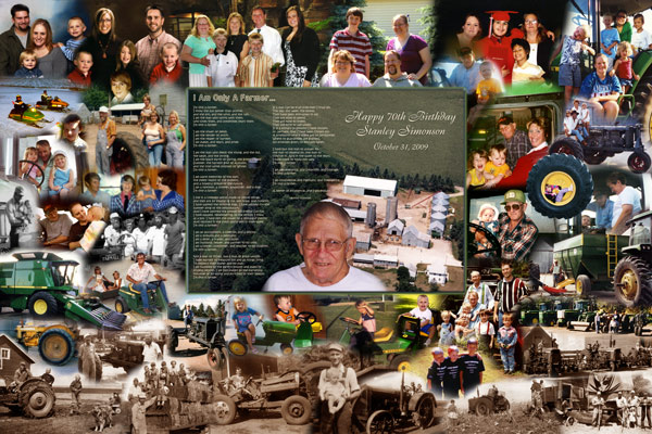 70th Birthday Gift Photo Montage