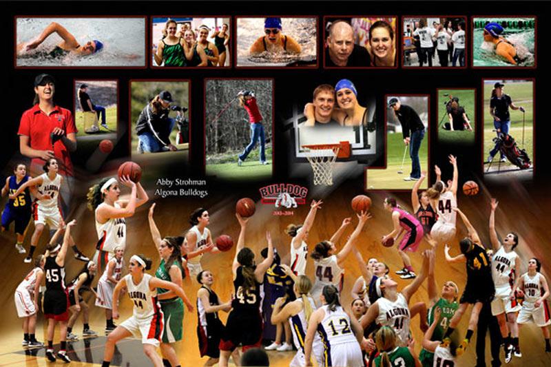 Multi-sport photo montage