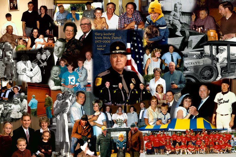 Retirement gift montage, collage