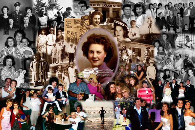 83rd Birthday Photo Montage