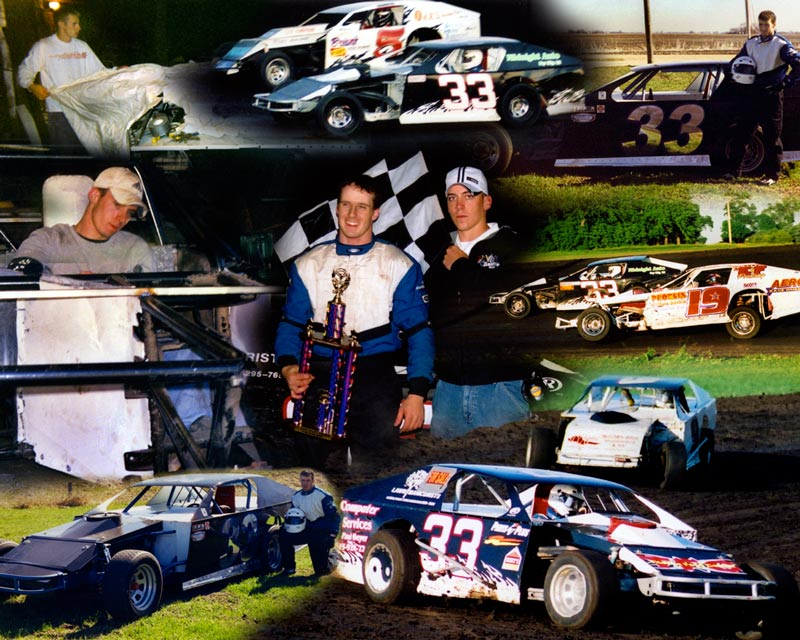 Racing photo montage, collage