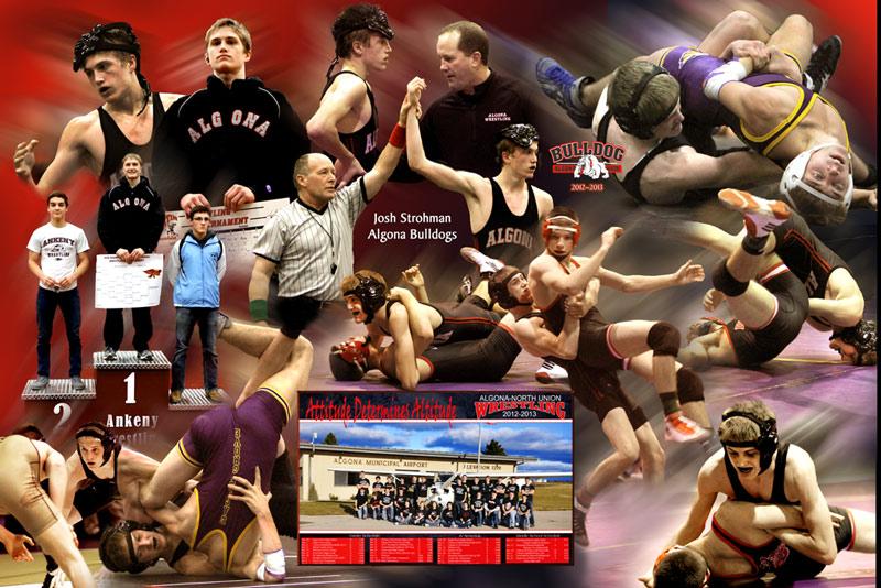 Wrestling photo montage