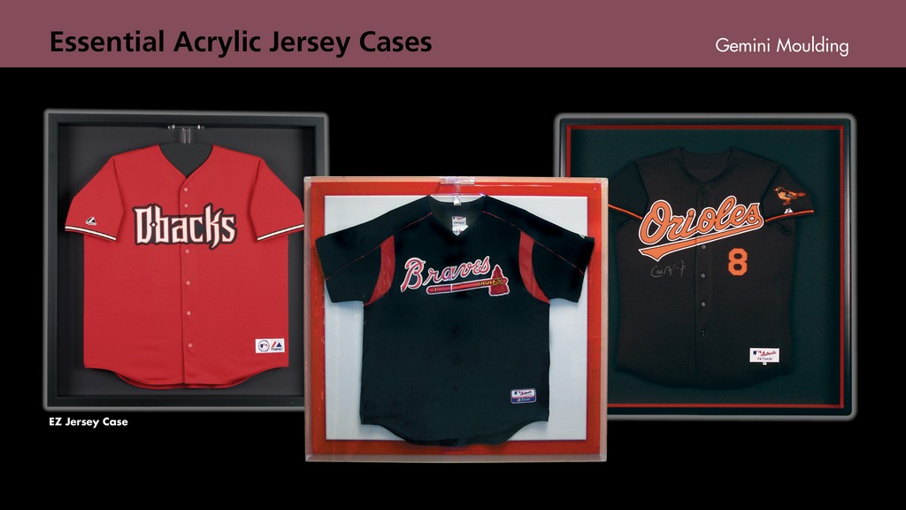 Acrylic jersey display cases