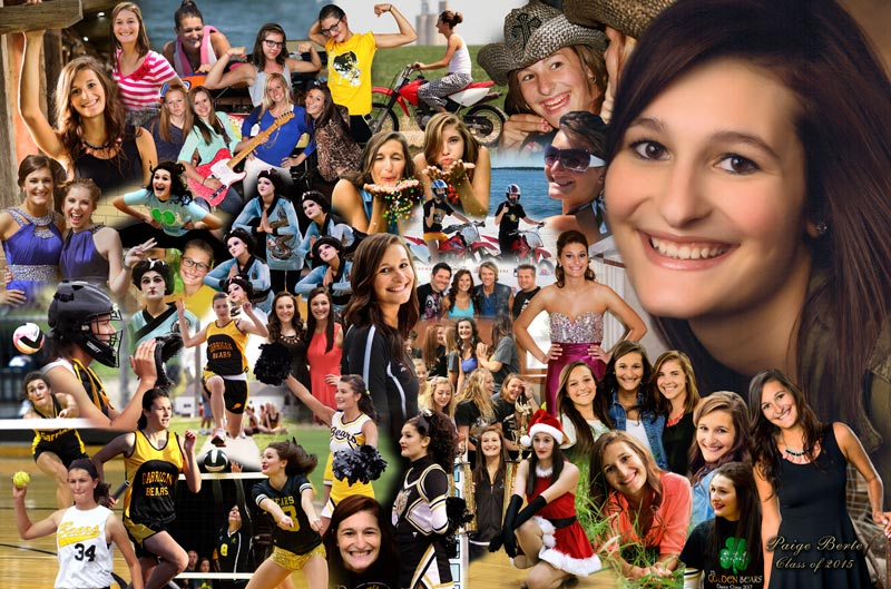 Graduation photo montage, collage