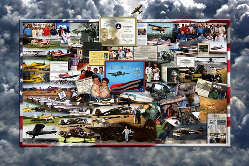 60 years of flying photo montage