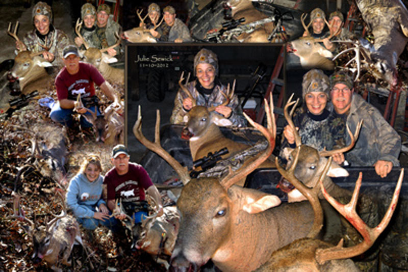 Deer hunting,Christmas gift montage