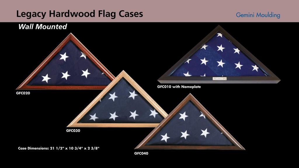 Hardwood flag cases