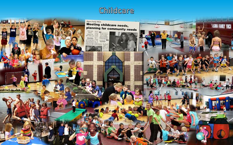 Childcare photo montage