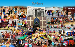 Childcare photo montage