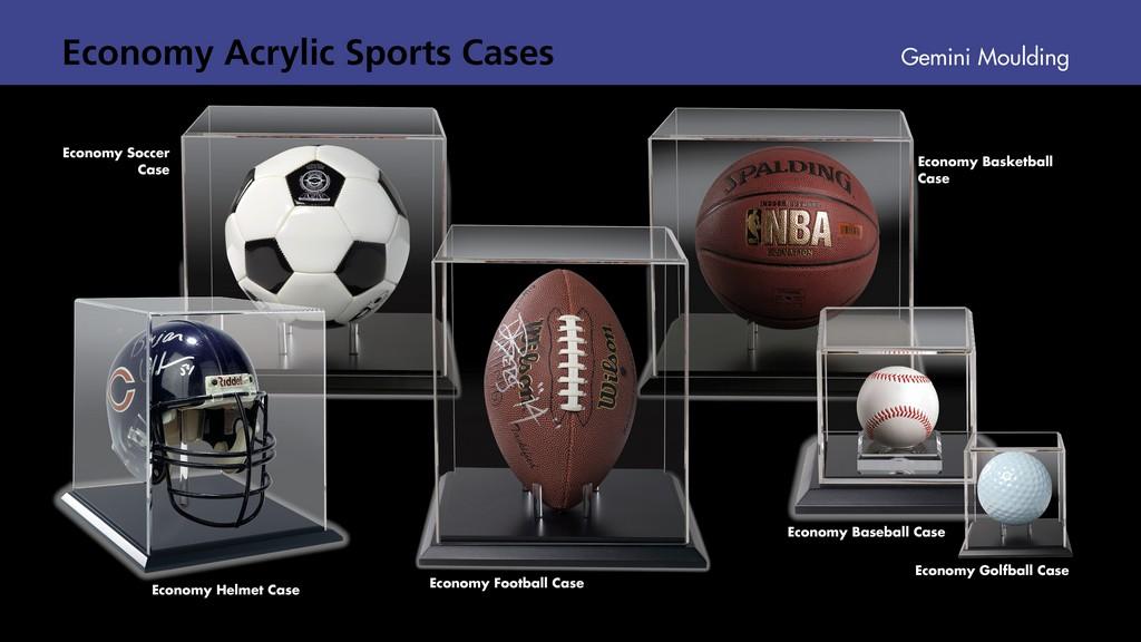 Acrylic sports ball cases
