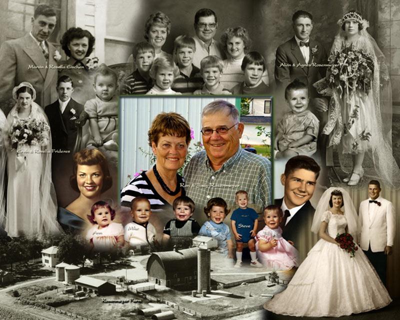 Family photo montage